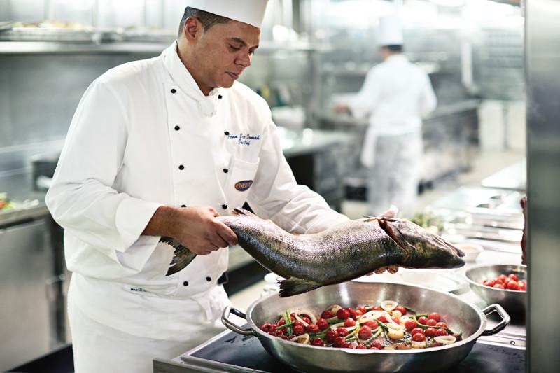 изысканная кухня на борту
