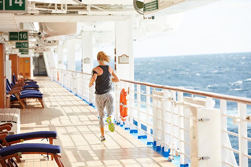 пробежка по открытой палубе