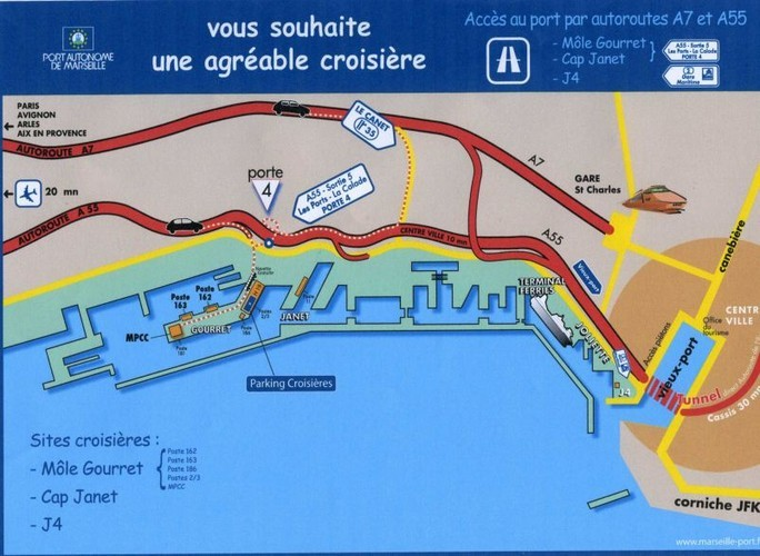 Порт марсель на карте