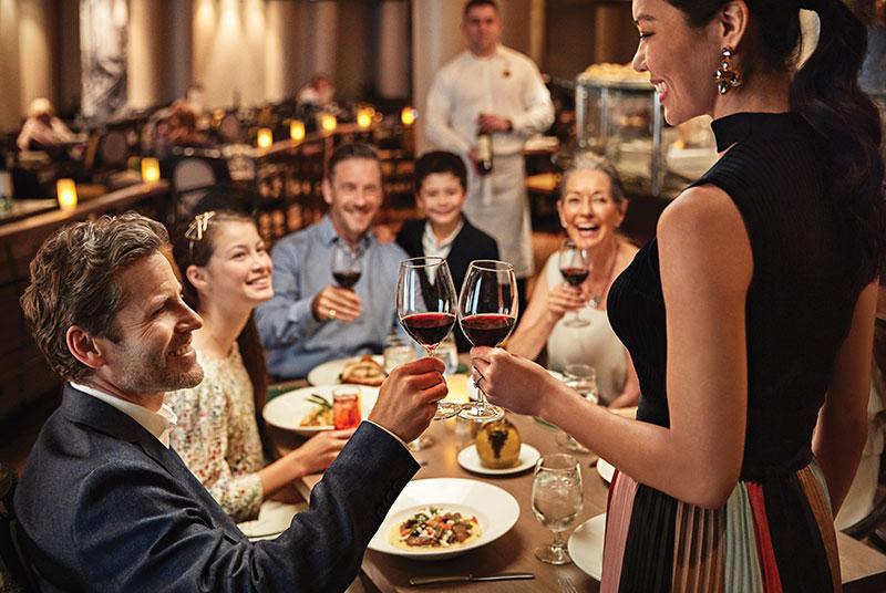 """тематический ресторан итальянской кухни """"Sabatinis Italian Trattoria"""""""